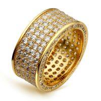 欧美大牌饰品 速卖通热销 满钻镶嵌锆石戒指 新款时尚高档首饰