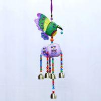 工艺品商务礼品 家居饰品 蜂鸟南瓜7铃风铃挂件 义乌小商品市场