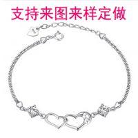 925纯银手链 女 韩版时尚 LOVE银手链 首饰品定做 加工订制