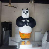 功夫熊猫玻璃钢雕塑,动漫卡通雕塑摆件,厂家直销