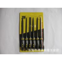 原装香港波斯工具   六件套什锦锉  锉刀 型号BS-I6518   5*180mm
