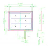 厂家定做矩阵数字触摸按键板 多线数字式电阻触摸屏来样定做