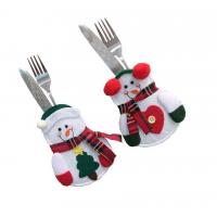 泰柯圣诞节装饰 小雪人刀叉袋 创意家居餐桌餐具套 圣诞雪人刀叉套