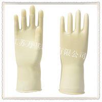 供应玫瑰牌 加厚耐酸碱橡胶手套 工业劳保手部防护乳胶手套厂家批发