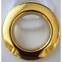 厂家直销工程料窗帘环 纳米罗马圈 窗饰配件布扣金银