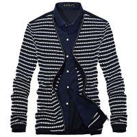 迪迪波尔2014春季男士条纹纯棉假两件长袖衬衫 简约时尚百搭款