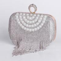 高档时尚优雅名媛晚宴包 外贸新品珍珠镶钻欧美女士晚宴包