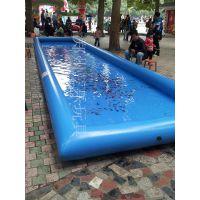 公园长方形充气水池 儿童假鱼钓鱼池三乐厂家订做加厚材料