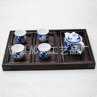 新款茶道专用复古木茶盘 实木高档茶社用具组合可拆分木质茶盘