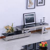 现代不锈钢家具 不锈钢电视柜 地柜 试听柜  钢化玻璃 可伸缩拉伸