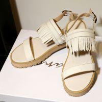 夏季欧美走秀凉鞋 女新款2015真皮中跟时尚百搭舒适流苏牛皮女鞋