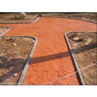 咸阳公园路面彩色混凝土压花地坪RS01道路压模地坪