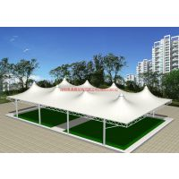 景观帆布结构雨棚 膜结构雨棚设计/收费站帆布屋顶/球场雨棚/岗亭雨棚/遮阳棚