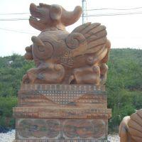 曲阳石雕厂 长期供应天然石料雕刻工艺品貔貅 优质雕刻貔貅定做