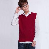 韩版男式毛背心百搭品牌毛线背心