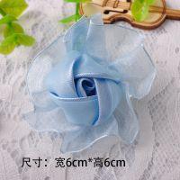 现货直销花朵饰品配件 手工雪纺布花 服装配饰小花免费拿样