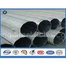 Dodecagonal Shape galvanized steel tubing , metal power pole Over 25 years Service life