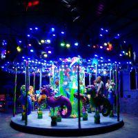 海洋转马性价比的游乐设备郑州宏德品牌游客最喜欢的梦幻旋转木马