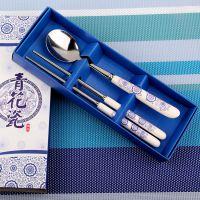 新年 2015厂家直销公关策划 婚庆用品青花瓷勺筷餐具创意送礼佳品
