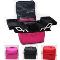 专业加工订做新款大容量化妆箱多功能化妆盒双开多层可手拎化妆包