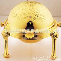 厂家直销 供应镀金球形翅盅 龙凤图纹 高档酒店餐具用品