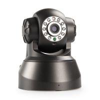 黑色30万像素低价即插即用 无线网络监控摄像机厂家带红外厂家