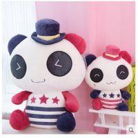 精品复古熊猫公仔毛绒玩具布娃娃大号抱抱熊生日情人节礼物女批发