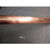供应优质红古铜拉丝不锈钢管 201不锈钢木纹管价格 不锈钢玫瑰金拉丝管厂家