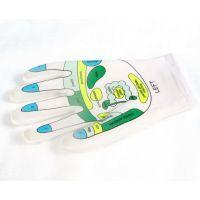 简单厂家直供 莱卡SPA精油凝胶护肤美白保湿手套/袜套 穴位图spa手套