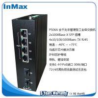 InMax P506A 2光4电全千兆非管理型PoE工业以太网交换机 金恒威 6口PoE交换机