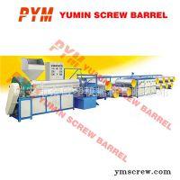 成套编织袋生产线、编织袋设备、塑料扁丝拉丝机、塑料挤出机