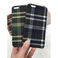 经典三包布艺软皮套格子iphone6s手机壳格纹防摔壳复古图案工厂直销