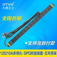 供应福州PDU价格/大唐卫士PDU电源插座 DT81122 SPD防雷防浪涌保护 12位10A多用孔