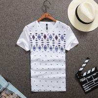 男士短袖t恤2015V领短袖韩版T恤夏季男修身打底衫男装上衣T恤