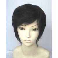 100%真发 真头发做的假发 真人发丝 女 短发 高档假发套