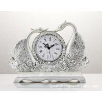 特大号天鹅湖座钟 创意工艺品时钟摆件 家居装饰品钟表装饰摆件