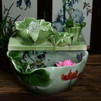 厂家直销流水摆件陶瓷喷泉桌面水景客厅家居风水招财鱼缸加湿器