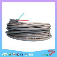 供应  防静电两芯高压线50KV 22AWG 黑色/灰色两芯线 现货