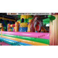 儿童乐园气垫厂家 儿童玩的气垫床/气垫滑梯价格 气垫蹦床厂