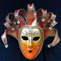 厂家直销节日装扮舞会面具威尼斯风格全脸面具纸浆节日道具