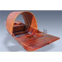 4m仿古乌篷船 水乡观光赏景木船 木质乌篷道具船 户外手划木船