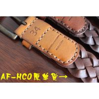 AF2016新款HCO海鸥男士真皮编织皮带百搭休闲针扣男式腰带3.8cm