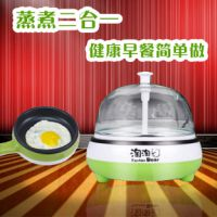 多功能迷你电煎锅 不粘锅 蒸蛋器 煮蛋器 自动断电 正品特价包邮