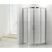 天利 整体淋浴房一字浴屏简易卫生间钢化玻璃隔断