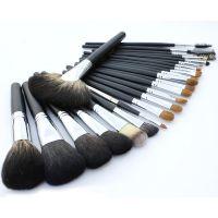 深圳化妆刷厂家直销24支灰鼠毛套刷貂毛眼影刷高档PU刷包OME定制