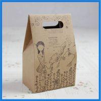 牛皮纸饼干手提袋 外印小清新图案 纸袋定制