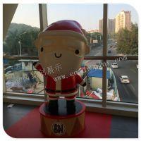 酒店购物商场圣诞节玻璃钢卡通公仔 卡通圣诞老人玻璃钢公仔陈列道具