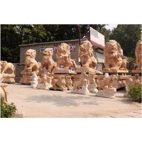 石狮子、大石代雕塑、公墓石狮子
