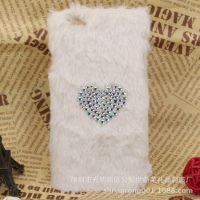 创意设计新款iPhone6韩版贴毛绒PC手机壳 冬季贴毛绒苹果手机壳