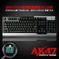 黑爵 AK47 机械键盘 Cherry原厂黑轴 游戏键盘 usb全键无冲键盘